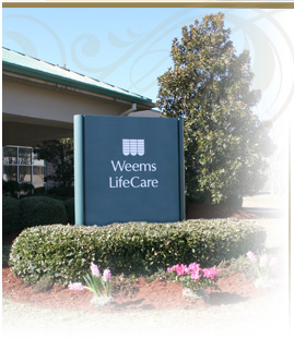 weems lifecare sign